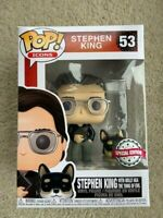 Stephen King with Corgi Molly Funko Pop Vinyl New in Mint Box + Protector