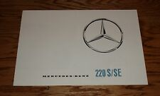 Original 1963 Mercedes Benz 220 S/SE Foldout Sales Brochure 63