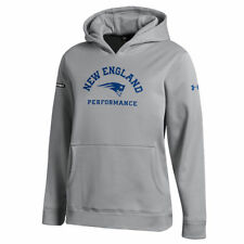 NEW ENGLAND PATRIOTS NFL UNDER ARMOUR YOUTH COMBINE AUTHENTIC ARCH LOGO HOODIE L