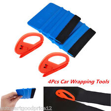 Safety Vinyl Cutter & Felt Edge Squeegee Scraper Vehicle Car Wrapping Tools Kit