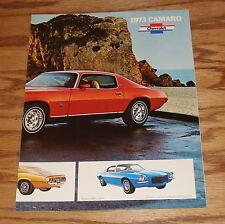 Original 1973 Chevrolet Camaro Facts Features Sales Sheet Brochure 73 Chevy