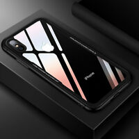 Tempered glass Cover Soft Silicone Case Bumper On The For iPhone X 6s 7 8 Plus