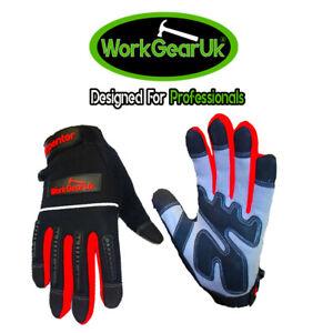WorkGearUk Carpenter Gloves with EVA Padded Palm WG-CARPENTER size Large