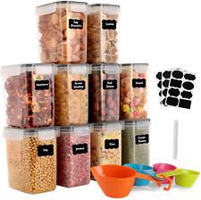 Vorratsdosen 10 Set, Aufbewahrungsbox Küche Luftdicht Behälter 1,6L