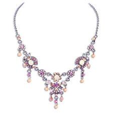 Modeschmuck-Halsketten & -Anhänger mit Strass-Legierung für Damen