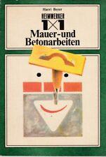 Heimwerker 1x1 Mauer- und Betonarbeiten /Harry Beyer DDR 1977 Fachbuch /Hobby