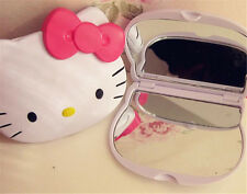New Hello Kitty Mirror Girls Women Makeup two-sided Cosmetic Kitty Folded Mirror