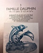 Dolphin and baby,  Beautiful crystal,  Garanti Lead Crystal Dolphin Famille 24%