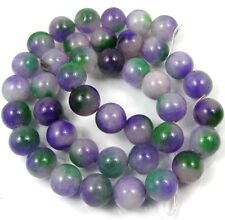 10mm Purple Green Agate Round Beads 15.5""