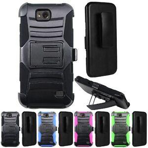 For ZTE Atrium Z793C / Scend LTE Z791G / Maven Hybrid Hard Case Cover+Belt Clip