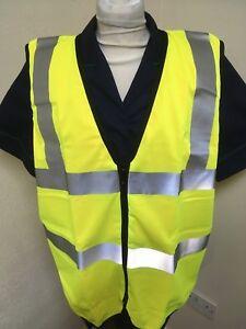 Hellmann HYP550 Polyester Hi Viz Reversible Zip Waistcoat Yellow or Orange - XL