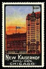 USA Poster Stamp - New Kaiserhof Hotel, Chicago, Illinois