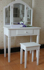 Solid Wood Dressing Tables with Stool
