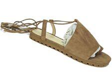 Nine West Womens Shayden Suede Dress Sandal Natural 7 M US