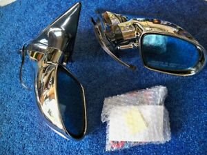 1995-1999 Dodge Plymouth Neon M3 Mirrors 2DR 4DR Chrome Look Blue Signal Light