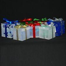 7x Natale cambiando Colore LED Luce presenta pacco ARREDAMENTO ALBERO NATALE BABBO NATALE REGALO