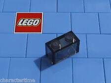 LEGO 3065 1x2 Brick Senza Tubo Inferiore Nero Trans X 4 NUOVO