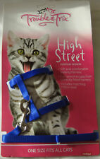 Cat Harness and Lead Set - Royal Blue One Size Fits All Cats