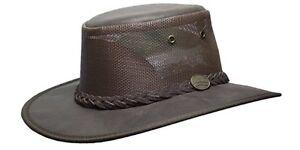 Barmah Foldaway Oiled Cooler Cowhide Leather Hat