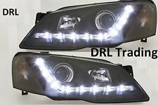 LED Black Projector Headlights for Ford Falcon BF Model Sedan Ute Wagon DRL Like