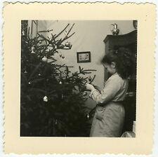 PHOTO ANCIENNE - ENFANT SAPIN DE NOËL - CHILD CHRISTMAS - Vintage Snapshot