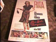MISS SADIE THOMPSON 3D MOVIE POSTER '53 RITA HAYWORTH