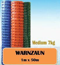 Warnzaun Bauzaun Absperrzaun Mobilzaun  Signalzaun 140 g/m², 1 m x 50 m, blau