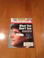Newsweek Magazine What You Don't See December 16 1991 Kennedy Smith Rape Trial