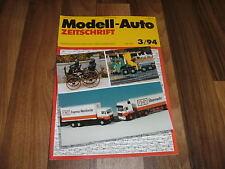 MODELL-AUTO 3/1994 -- Moonraker in HO / Mähdrescher / Mazda MX 5 / Krantransport