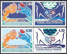 FRANCE 1994 Rail/chemins de fer/Transport/Tunnel/Construction/Ingénierie 4 V Set (b655)