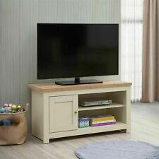 TAD | Lisbon Small Cream & Oak TV Unit Cabinet Stand Media 1 Door 2 Shelf 99cm