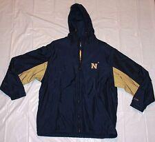 "Crable Sportswear Mens  Medium ""NAVY"" two toned jacket  navy blue/gold-tan USN"