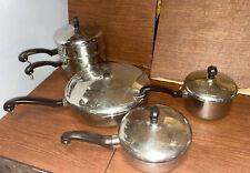 9 PCS Set Vintage Farberware Aluminum Clad Stainless Steel Cookware USA