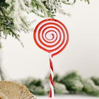 1PCS 3D Christmas Candy Cane Pendant Hanging Ornament Decor Xmas Hot Tree B8N4
