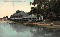Stamford Yacht Club, Stamford, Connecticut, Early Postcard, Unused