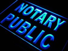 "16""x12"" s200-b Notary Public Sevice Office NEW Neon Sign"