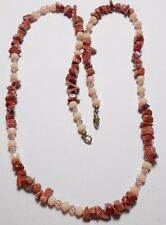 "25"" necklace, Goldstone nuggets, glass beads mix"