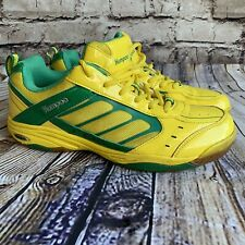 Court Indoor Shoes Badminton Squash Table Tennis Kumpoo Yellow And Green 9.5