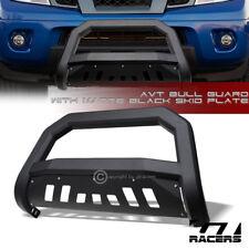 For 2005 2021 Nissan Frontier Matte Black Avt Edge Bull Bar Push Bumper Guard