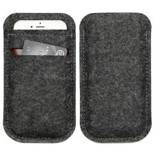 "Universal Soft Wool Felt Bag Pouch Sleeve Case CardPocket for 3"" - 5.7"" Phones"
