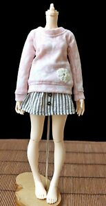 Skirt and Sweater Outfit Set for Fairyland Minifee 1/4 Slim MSD BJD Pink Floral