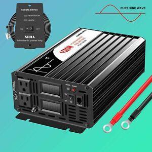 1500W (peak3000W) pure sine wave power inverter  DC12V 24V 48V to AC120V remote