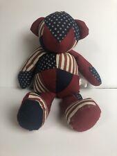 Terry's Village Bear Stuffed Animal Americana Bear Red White Blue Item # 96/559