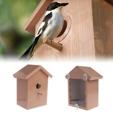 Wood Bird Nests Outdoor Suction Cup Bird Nest Home Garden Window Birdhouse Decor