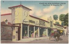 Ponce De Leon Shopping Center in St. Augustine FL Postcard