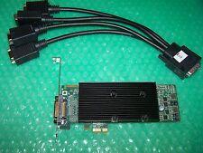 MATROX M9120 PLUS LP 512MB PCI-E X1 QUAD MONITOR SCHEDA GRAFICA + Cavo