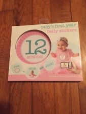 Stepping Stones Baby's First Year Belly Stickers Girl Newborn Pink