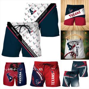 Houston Texans Football Board Shorts Athletic Short Pants Men's Swim Trunks