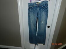 """BKE The Buckle STAR FLARE Low Rise Stretch Distressed Jeans Size 25 X 31.5"""""""