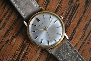 1967 Gold Plated Caravelle Bulova Vintage Manual Wind Watch - 11ODC - Clean!